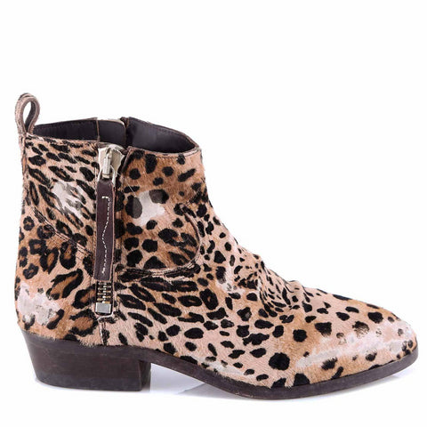 Golden Goose Deluxe Brand Leopard Print Ankle Boots