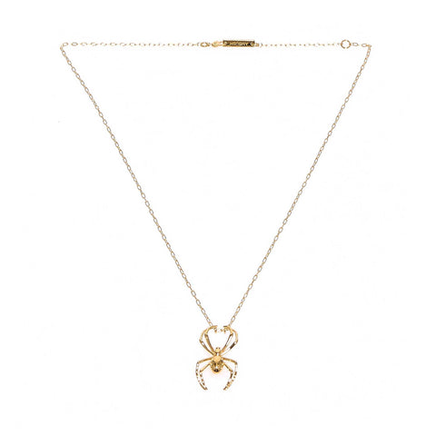 Ambush Spider Detail Charm Necklace