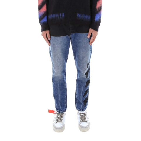 Off-White Motif Print Slim-fit Jeans