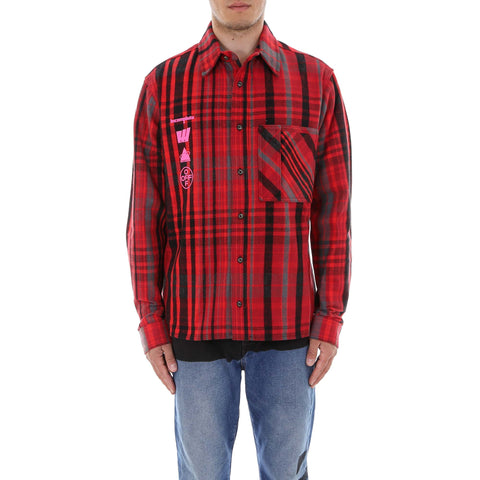Off-White Graphic Print Checked Shirt