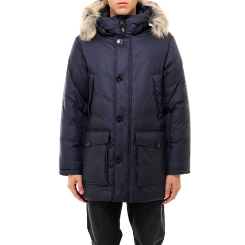 Woolrich Fur Trim Hooded Padded Parka