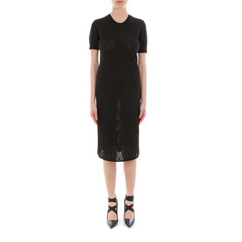 Fendi Fitted Logo Patterned Dress