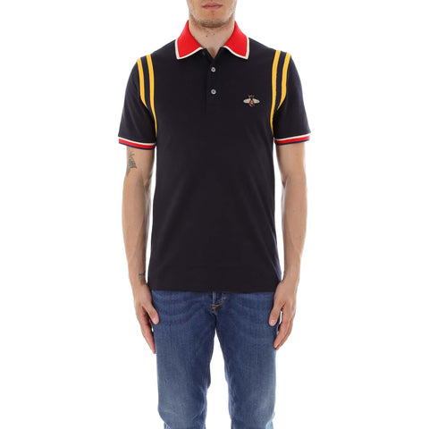 Gucci Bee Detail Polo Shirt