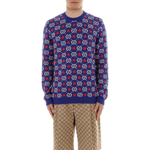 Gucci Monogram Motif Sweater