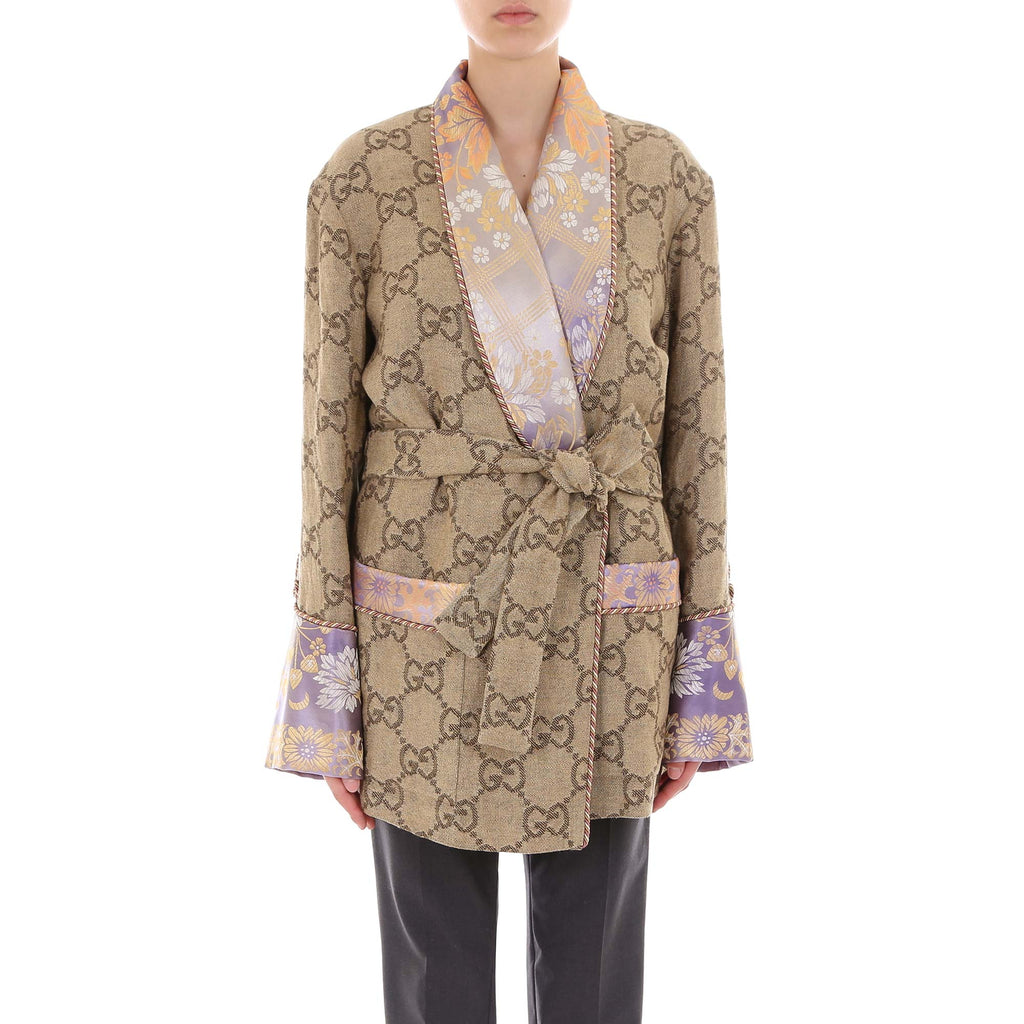 310de6461a Gucci GG Contrast Belted Jacket – Cettire