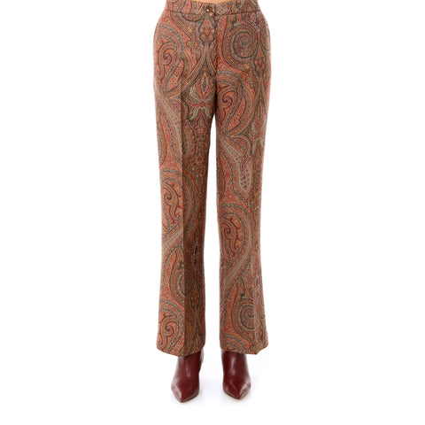 Etro Flared Paisley Print Trousers
