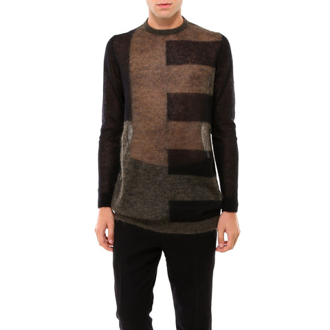 Rick Owens Sheer Stripe Detail Jumper