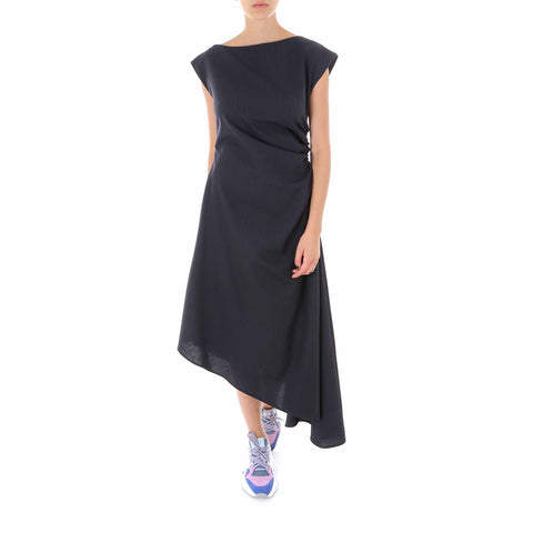 Mm6 Maison Margiela Draped Asymmetric Dress