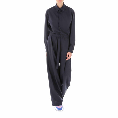 Mm6 Maison Margiela Pinstripe Belted Jumpsuit