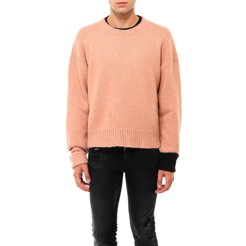 Neil Barrett Crewneck Contrast Cuffed Sweater