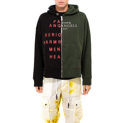 Palm Angels Two Tone Logo Print Hoodie
