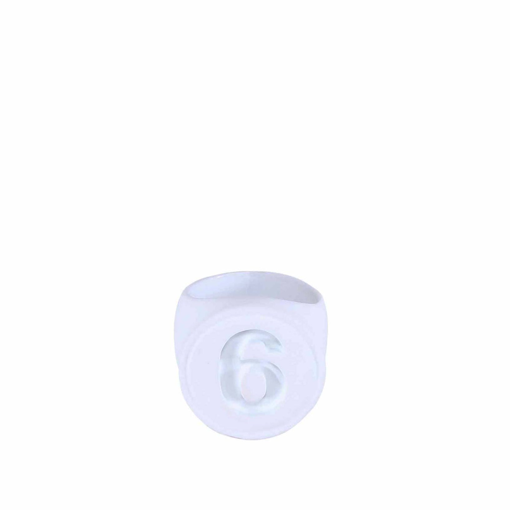 new concept c7d89 7c1a2 Mm6 Maison Margiela 6 Ring in White