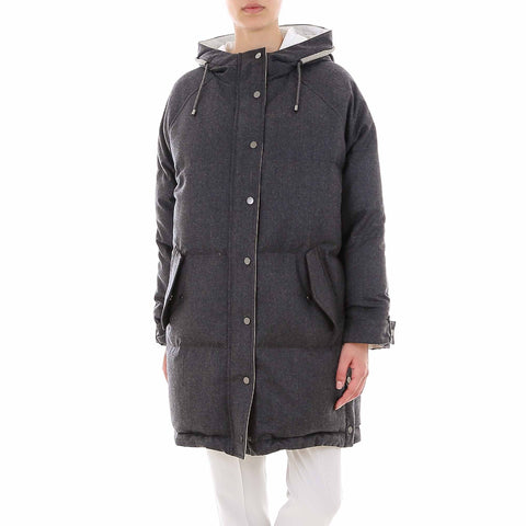 Brunello Cucinelli Padded Hooded Coat