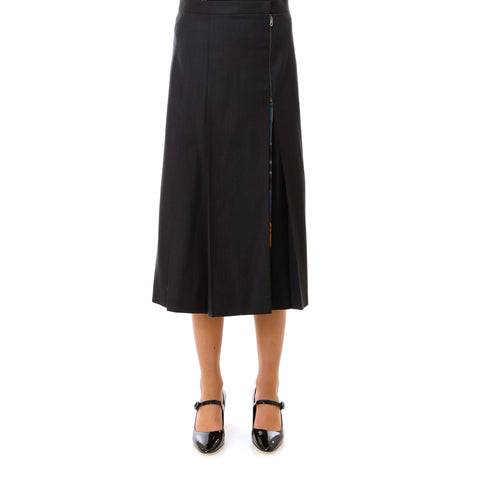 Salvatore Ferragamo Pleated Wrap Midi Skirt
