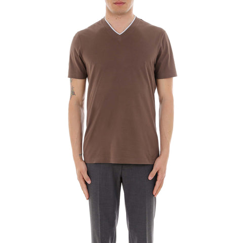 Brunello Cucinelli Slim Fit V-Neck T-Shirt