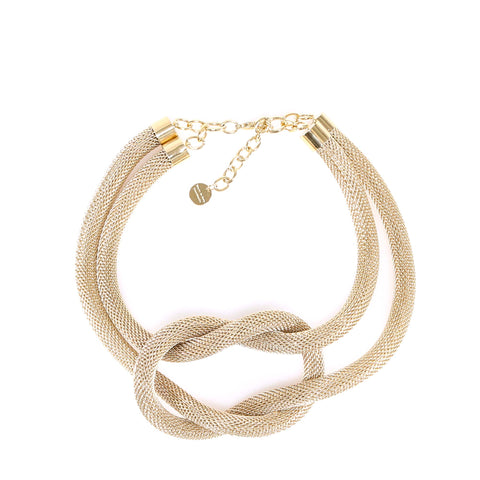 Silvia Gnecchi Oversized Knot Necklace
