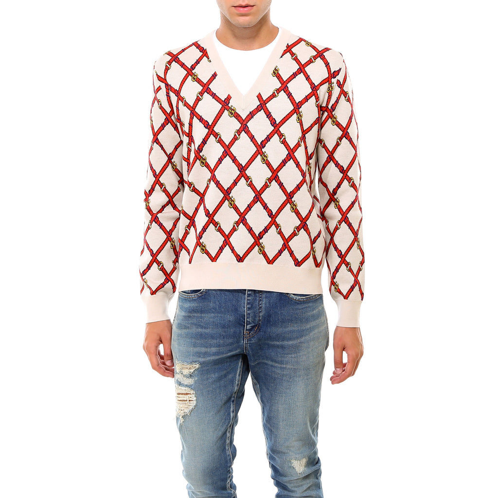 Gucci Sweaters GUCCI BUCKLE MOTIF SWEATER