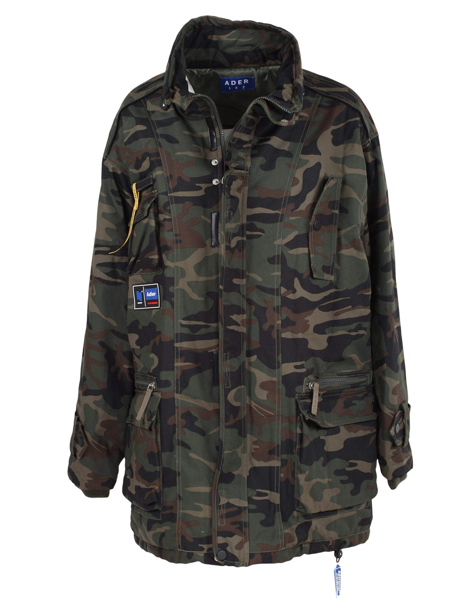 ADER ERROR OVERSIZED CAMO PRINT JACKET