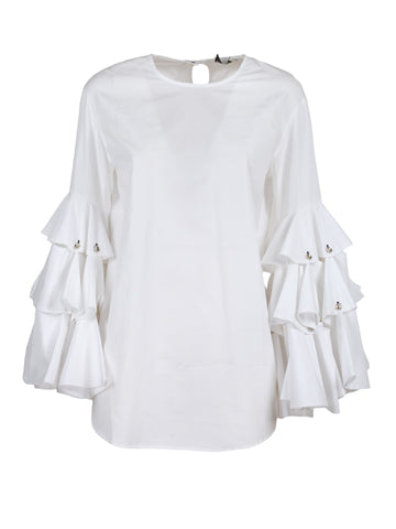 Monographie Layered Ruffle Sleeve Top