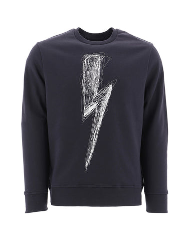 Neil Barrett Lightning Bolt Print Sweater