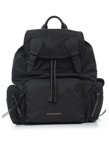 Burberry Leather Trim Backpack