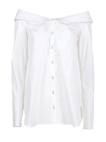 Monographie Stripped Off The Shoulder Collar Shirt
