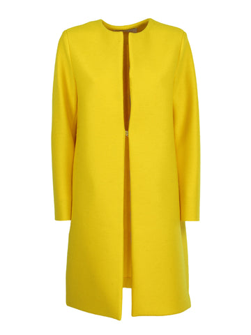 Harris Wharf London Collarless Midi Length Coat