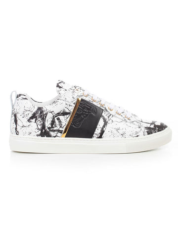 Versace Collection Marble Print Sneakers