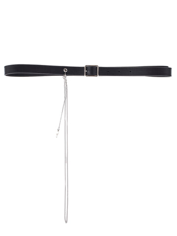 Dries Van Noten Leather Chain Tassel Belt