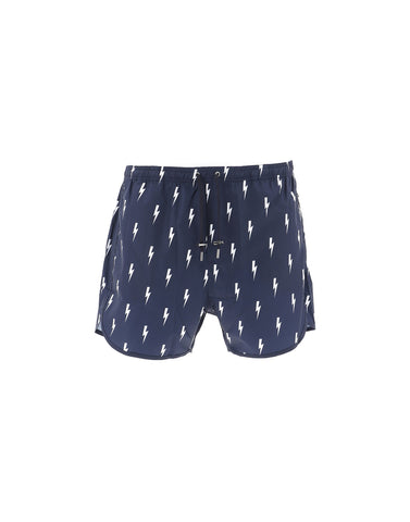 Neil Barrett Lightning Bolt Swim Trunks