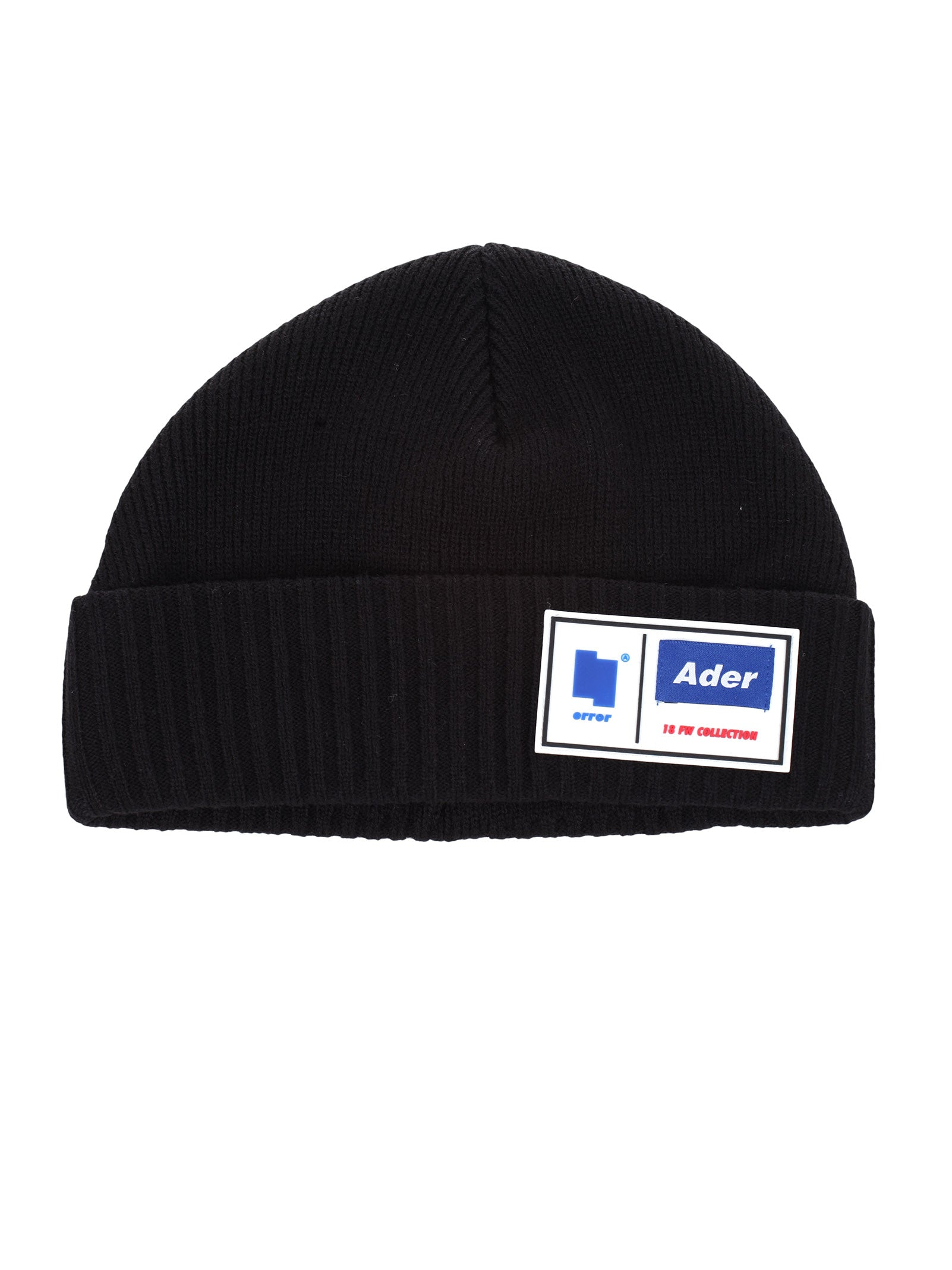 ADER ERROR RIBBED LOGO BEANIE HAT