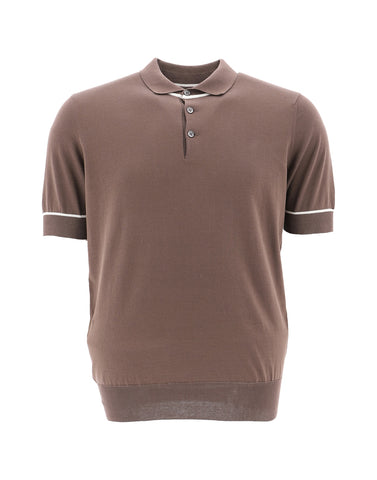Brunello Cucinelli Contrast Trim Polo Shirt