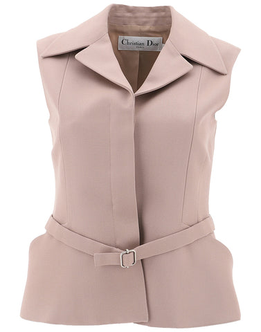 Dior Collared Belted Gilet