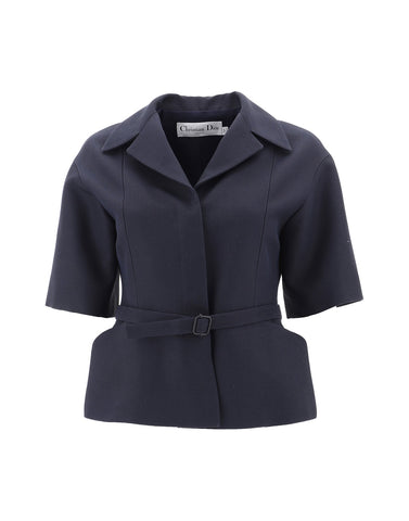 Dior Belted Short Sleeve Top