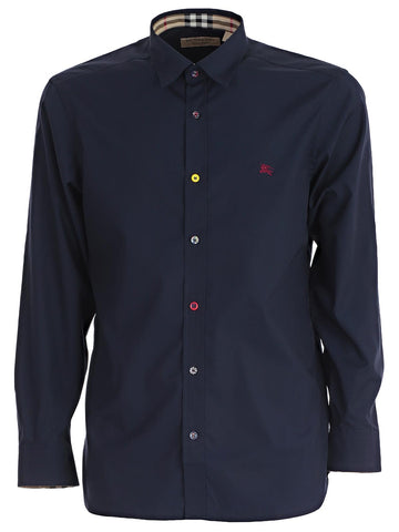Burberry Logo Embroidered Shirt