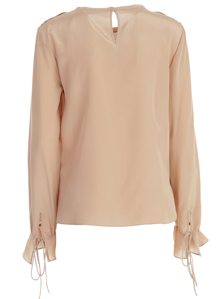 f71d828af2244 See By Chloé Ruffle Detailed Silk Blouse – Cettire