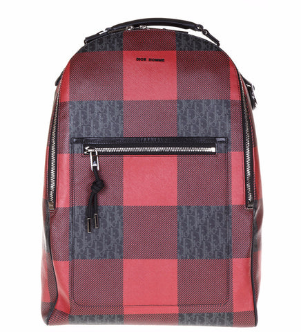 Dior Homme Logo Printed Leather Backpack