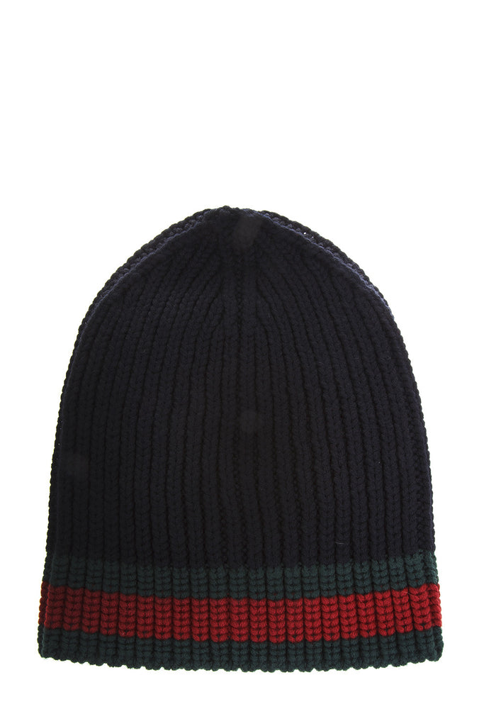 fc3b88d03db Gucci Web Wool Cable Knit Beanie Hat – Cettire
