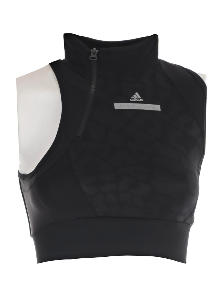 70fc42c2aa13a Adidas By Stella McCartney High Neck Cropped Running Top – Cettire