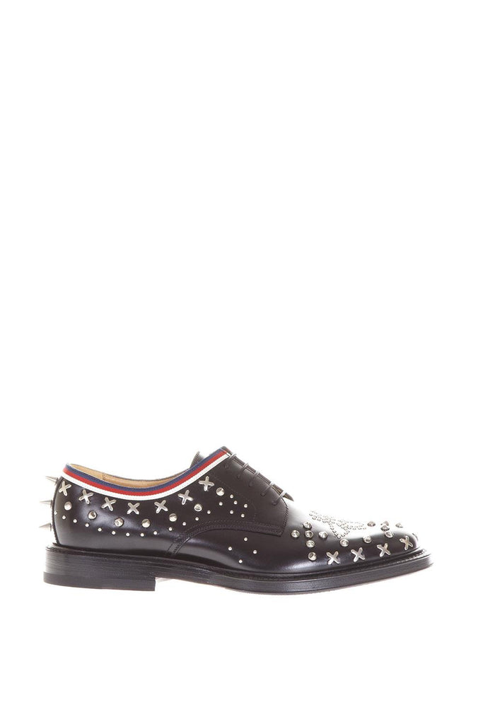 0cd9613688a Gucci Studded Lace-Up Derby Shoes – Cettire
