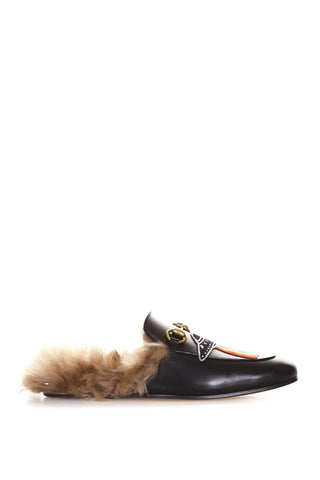 Gucci Princetown Slip-On Fur Mules