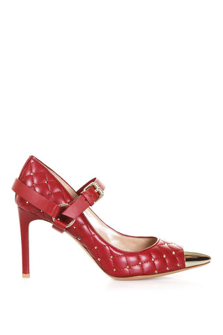 Valentino Garavani Mary Jane Rockstud Quilted Pumps