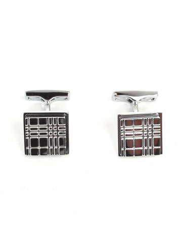 Burberry Checked Square Cufflinks