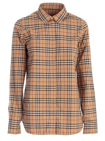 Burberry Long Sleeve Checked Shirt