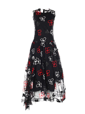 Simone Rocha embroidered flower dress