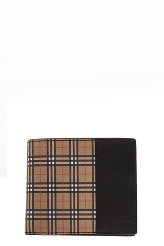 Burberry Scale Checked Bifold Wallet