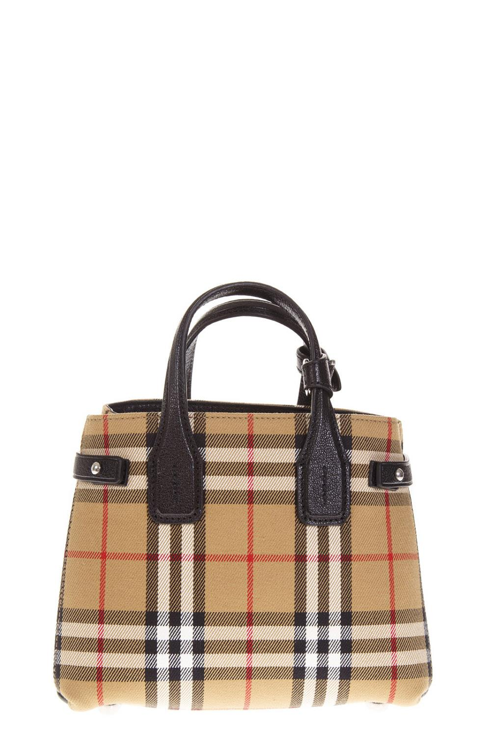 Burberry Baby Banner Canvas Shoulder Bag In Brown  dacd1587565a1