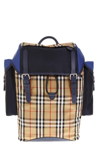 Burberry Colour Block Checked Backpack