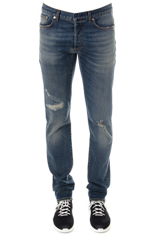 Dior Homme Stone Wash Ripped Jeans