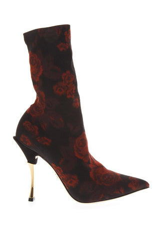 Dolce & Gabbana Floral Sock Boots